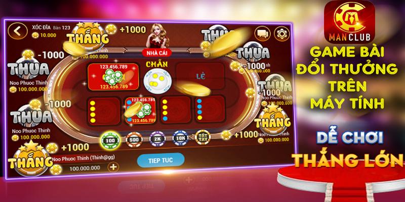 Man club – Hướng dẫn tải và chơi game bài đổi thưởng trên PC